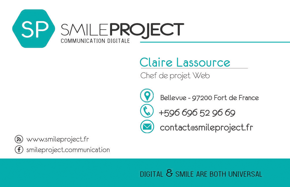 Carte de visite SmileProject dos1