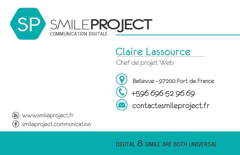 Carte de visite SmileProject dos1
